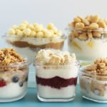 healthy yogurt parfaits in small containers