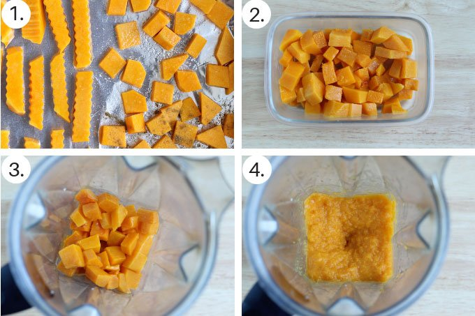 how to make butternut squash puree step by step