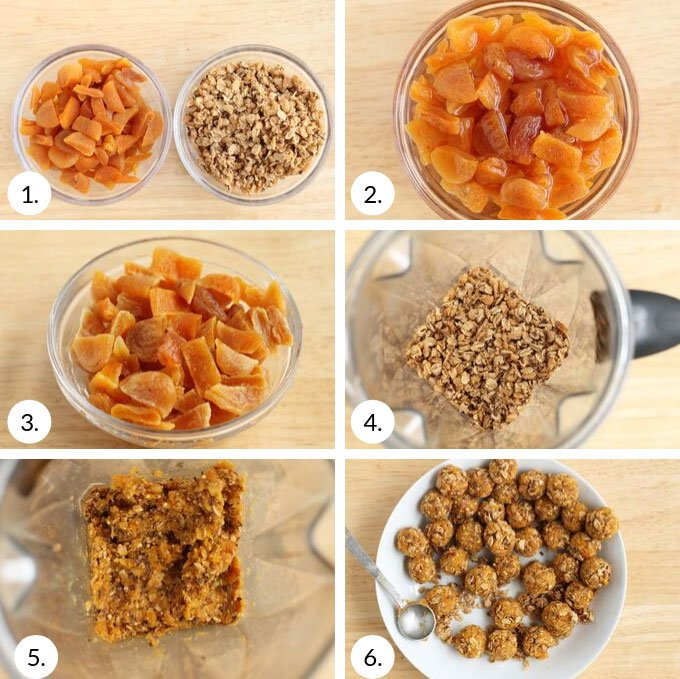 how to make granola bites step by step