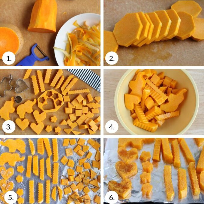 how to make roasted butternut squash step by step