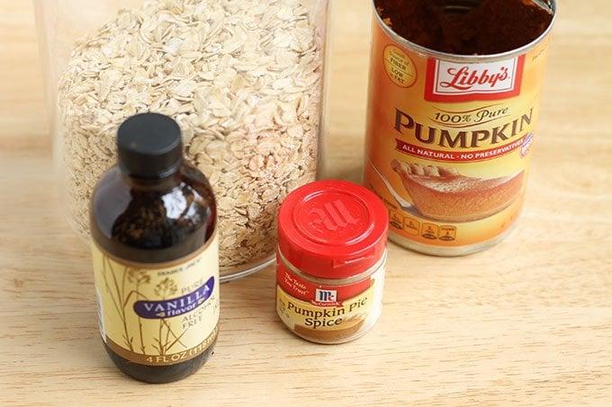 ingredients in pumpkin oatmeal