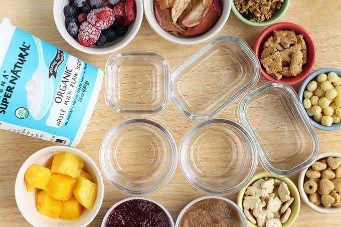 ingredients in yogurt parfaits