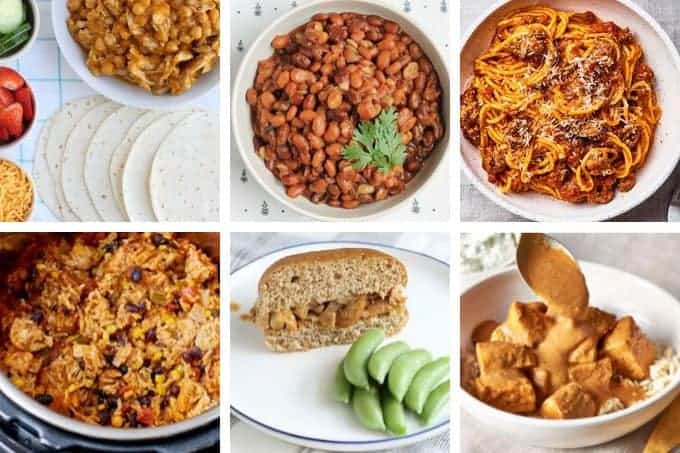 instant pot family recipes in grid