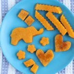 roasted butternut squash shapes on plate