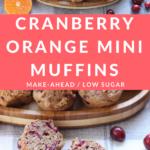 cranberry orange muffins pin 1