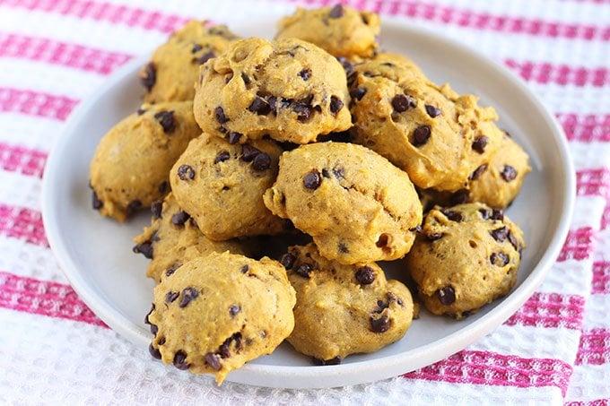 healthy pumpkin cookies on plate