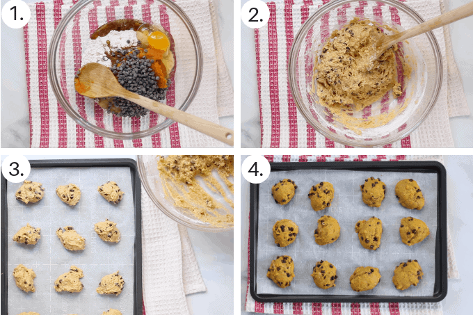 how to make healthy pumpkin cookies step by step