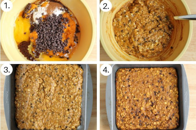 how to make pumpkin bars step by step