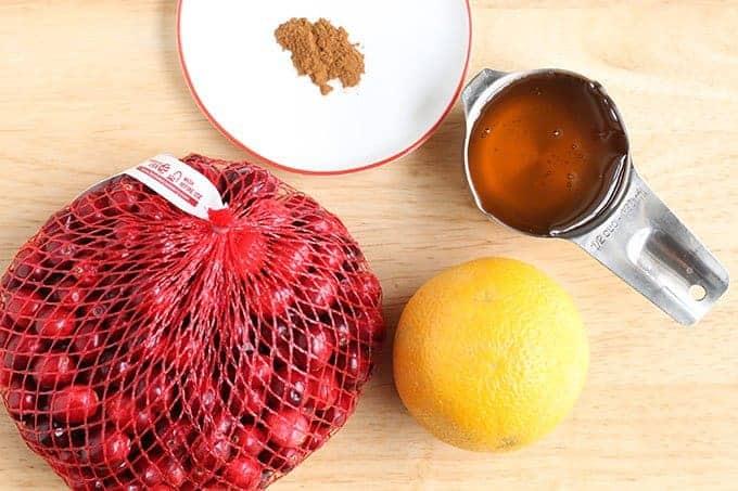 ingredients in cranberry orange sauce