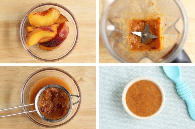 how to make peach puree baby food