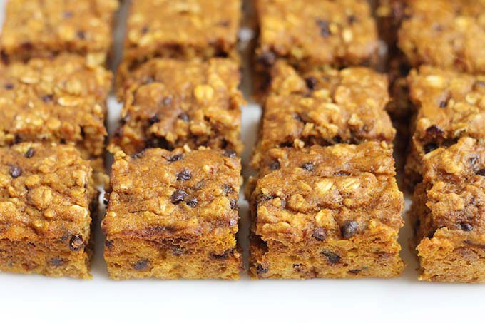 Healthy Pumpkin Bars Recipe With Oatmeal Perfect For Breakfast Or