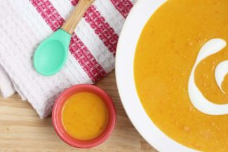Easy Red Lentil Soup (with Sweet Potato and Coconut)