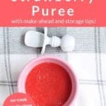 strawberry puree pin