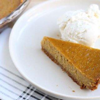 butternut-squash-pie slice on plate