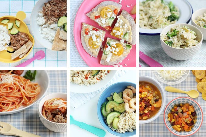 winter meals in grid of 6