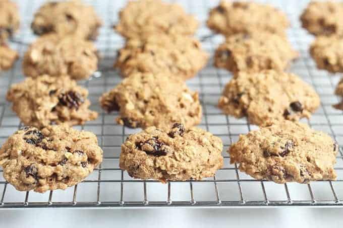 healthy-oatmeal-raisin-cookies-on-wire-rack