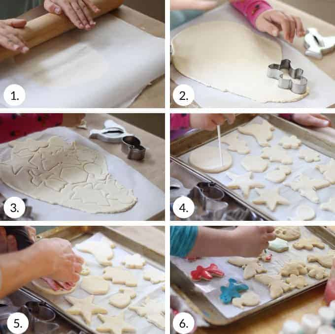 how to roll out and decorate salt dough ornaments