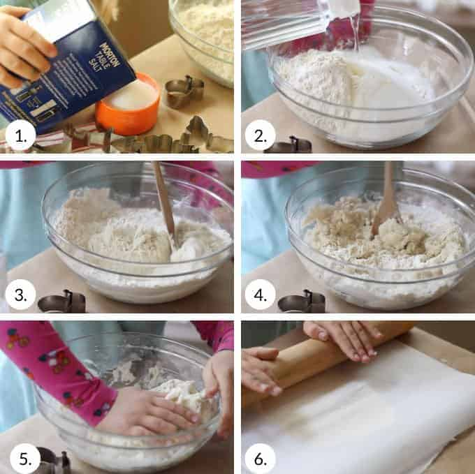 how to make salt dough step by step