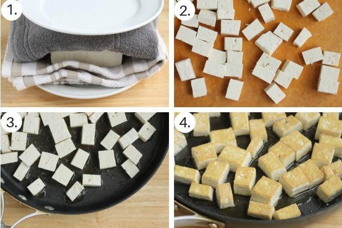 how to make sesame tofu step by step