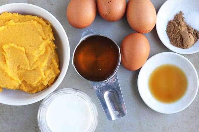 ingredients in butternut squash pie