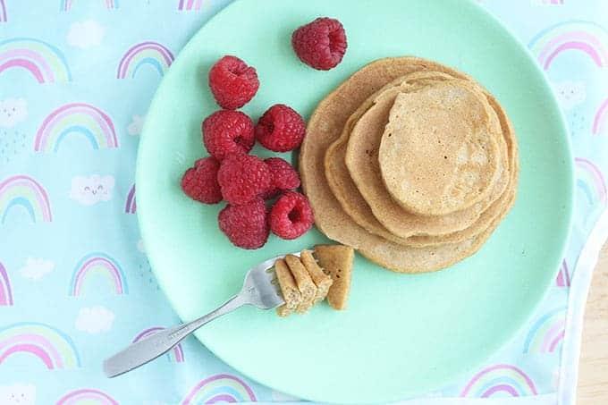 sweet potato pancakes with raspberries