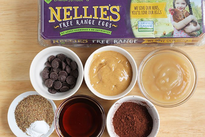 ingredients in baked chocolate donuts