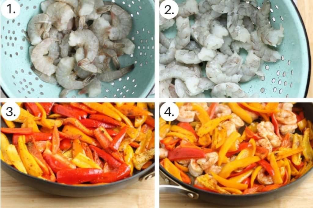 how to make shrimp fajitas step by step