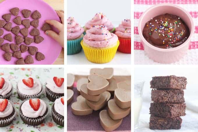 valentines treats in grid of 6