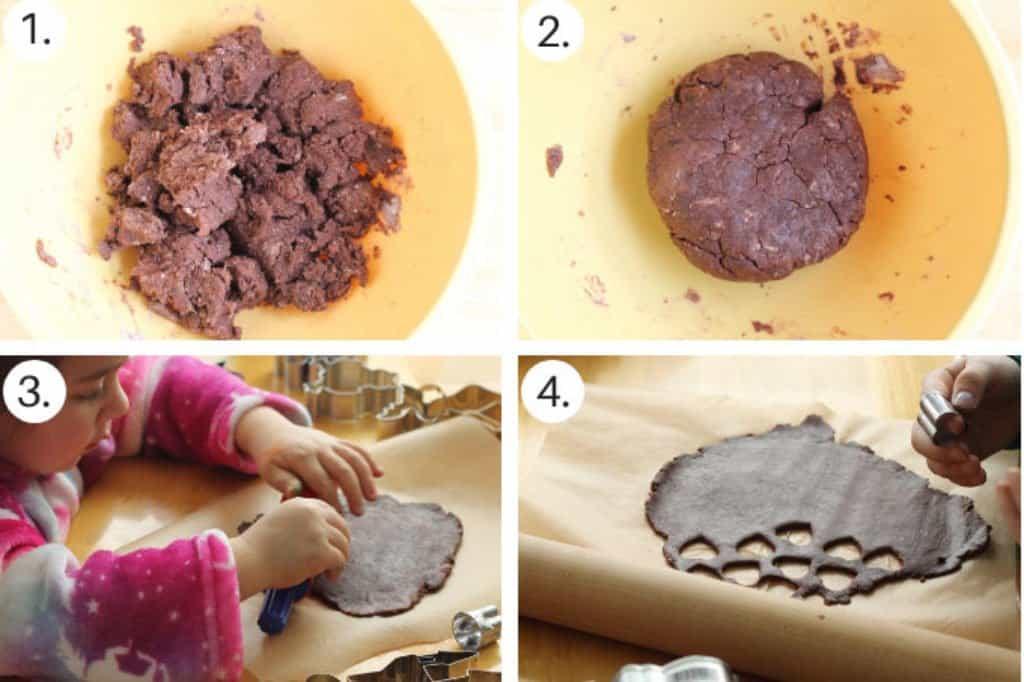 how to make chocolate sugar cookies step by step