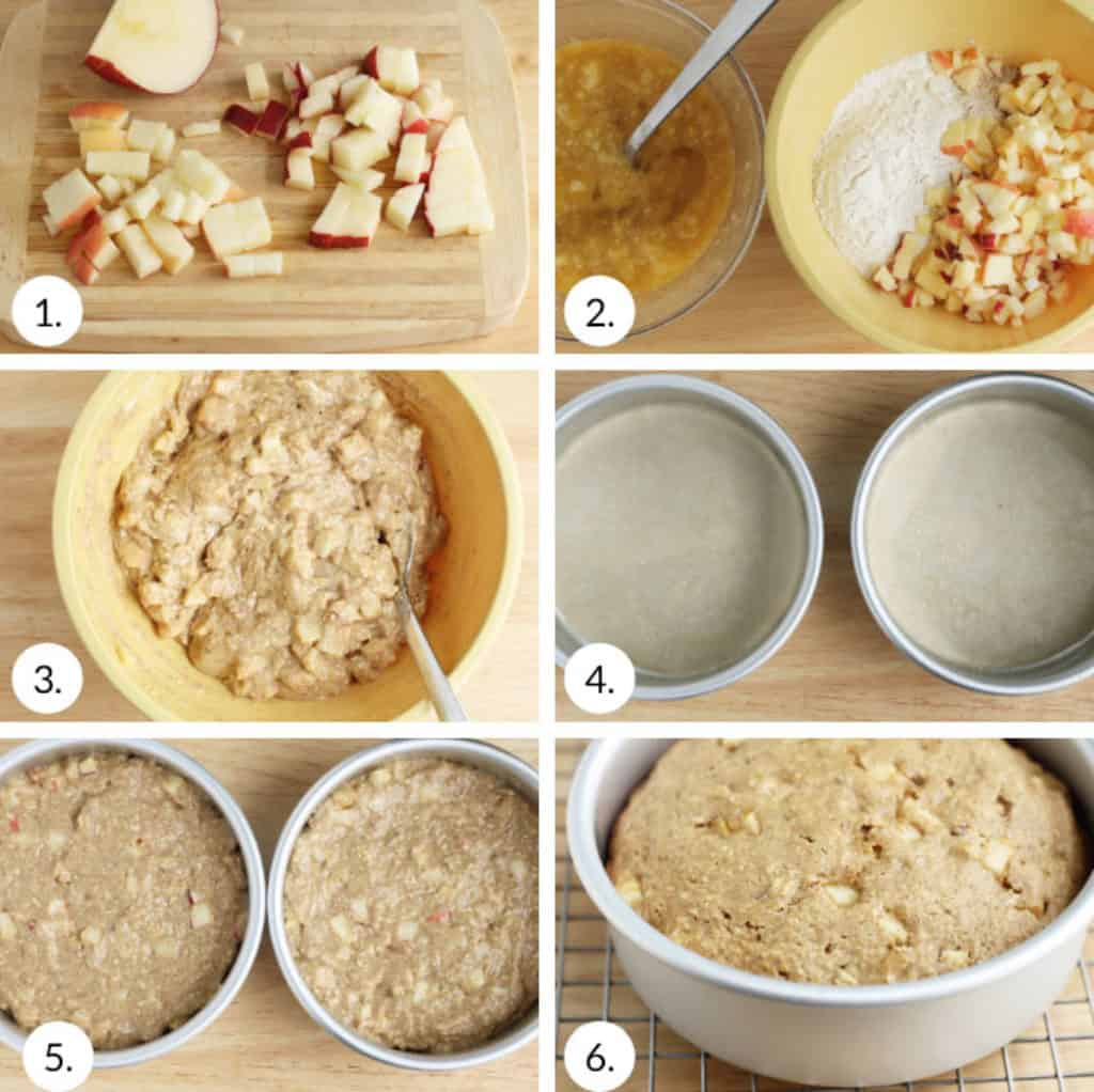 how to make healthy apple cake step by step process