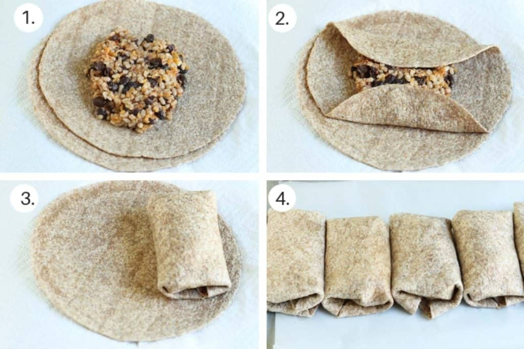 how to make vegetarian burritos step by step