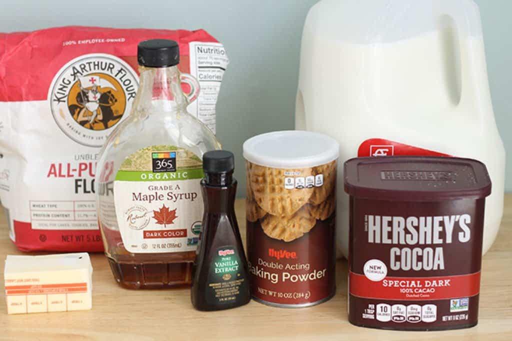 ingredients in chocolate sugar cookies