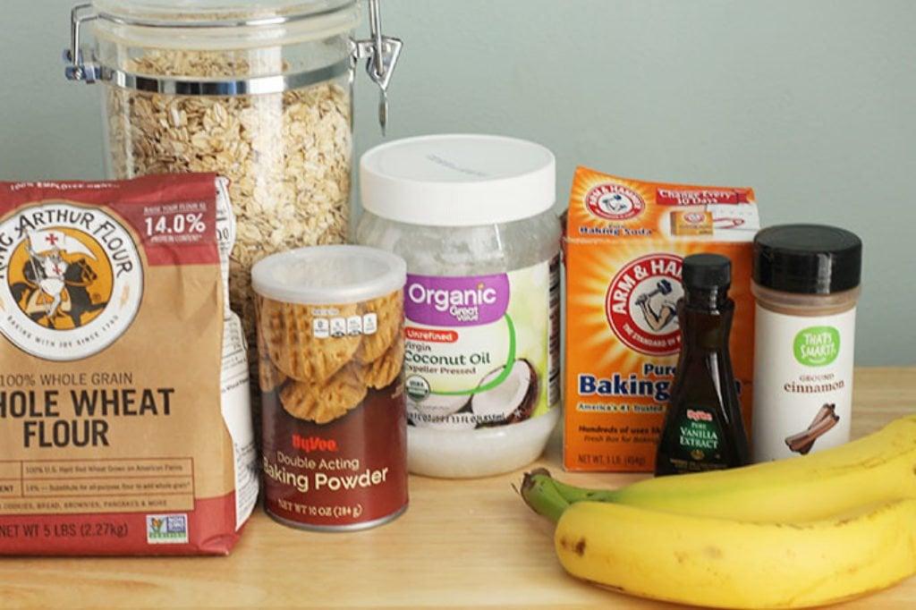 ingredients in sugar free banana muffins