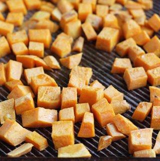 roasted-sweet-potatoes-on-sheet-pan
