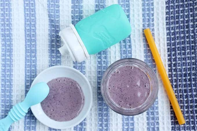 blueberry-constipation-smoothie on tea towel