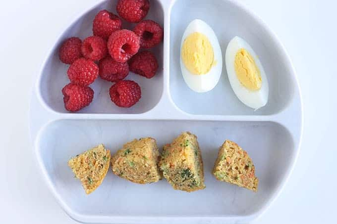 divided-plate-with-veggie-muffins