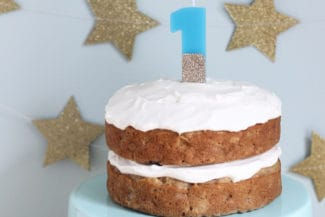 Healthy Apple Cake with Maple Yogurt Frosting