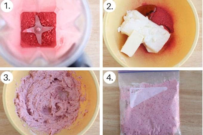 how to make strawberry cream cheese frosting step by step