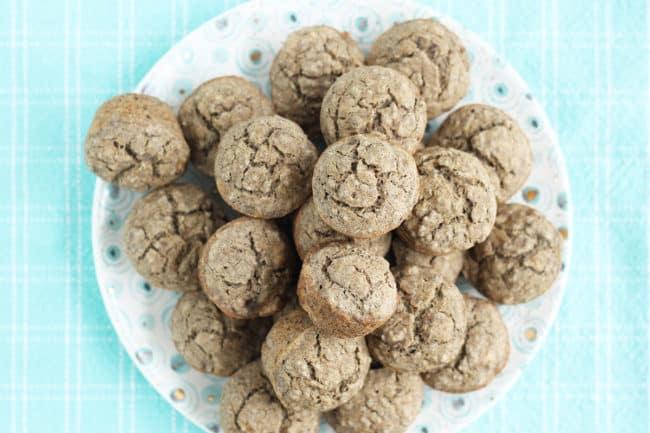 vegan-banana-muffins-on-polka-dot-plate