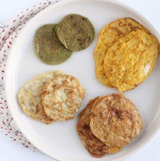 2-ingredient-pancakes-4-flavors