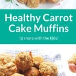 carrot cake muffins pin 1