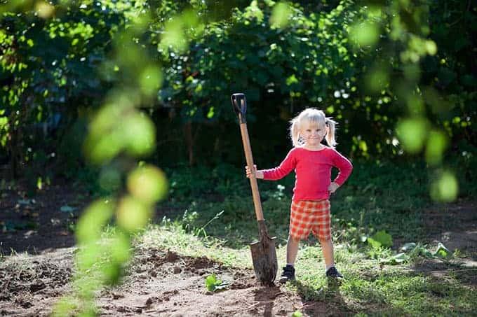 child-with-garden-shovel