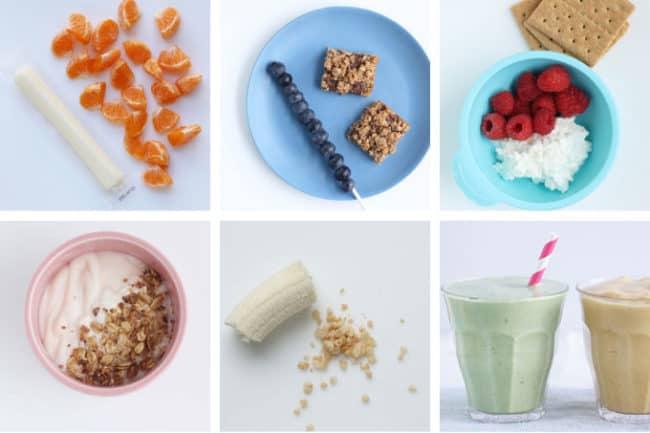 easy snacks in grid