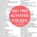 free activities for kids pin