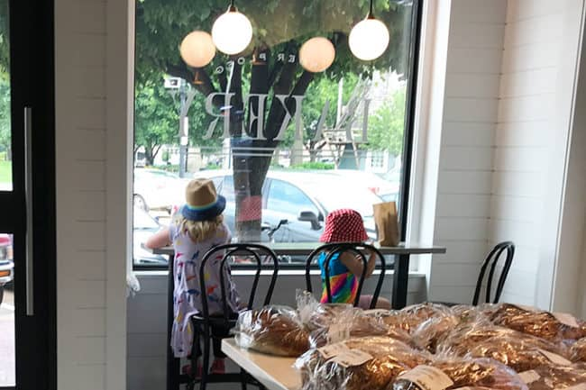 girls at bakery counter
