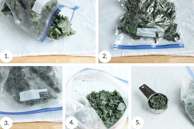 how to freeze greens step by step