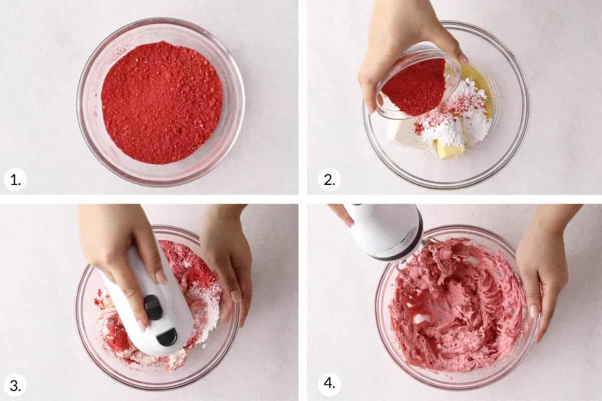 how-to-make-strawberry-cream-cheese-frosting-step-by-step