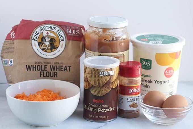 ingedients in carrot pancakes