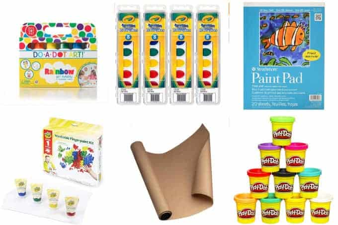 kids-craft-supplies-painting-and-playdough