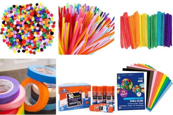 kids-craft-supplies-pom-poms-and-tape